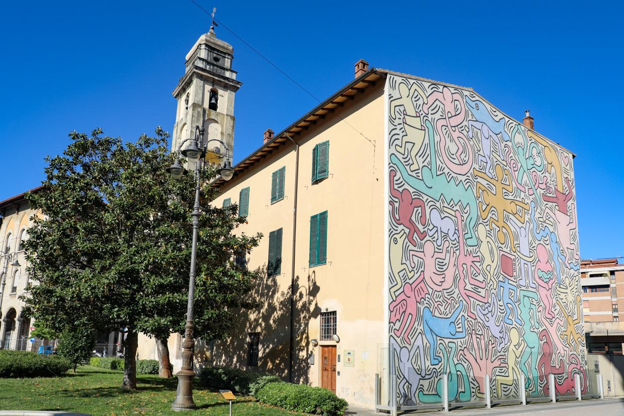 Muurschildering van Keith Haring