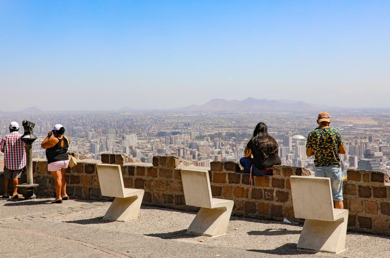 uitzicht op Santiago